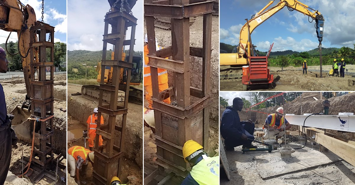 piling and pile testing at St Lucia Distillers